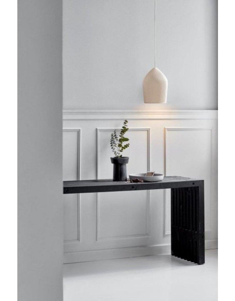 Hanglamp keramiek geribbeld E27 22 cm Ø