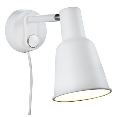 Dimmable wall lamp black or white Scandinavian E27