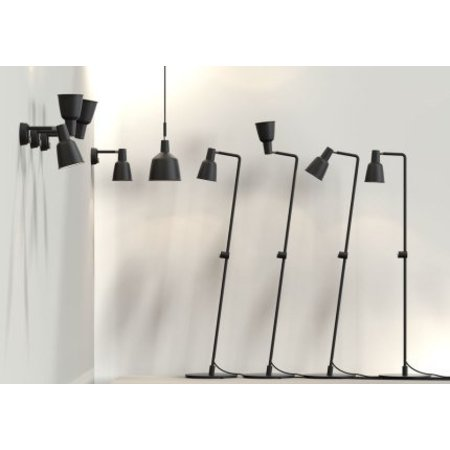 Lampadaire variateur blanc ou noir E27