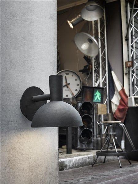 applique style industriel noir ou galvanis e27 myplanetled. Black Bedroom Furniture Sets. Home Design Ideas
