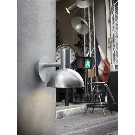 Industrial outdoor wall light black or galvanized E27
