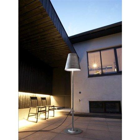 Lampadaire terrasse galvanisé 129-165 cm E27 IP44