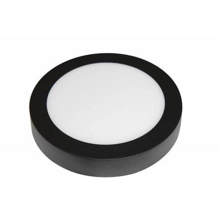Plafonnier moderne LED 18W rond bord noir