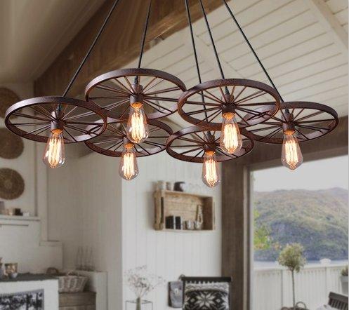Industriële hanglamp met 6 wielen voor LED verlichting   Myplanetled