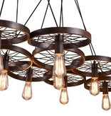 Industrial pendant light with 6 wheels for LED lighting