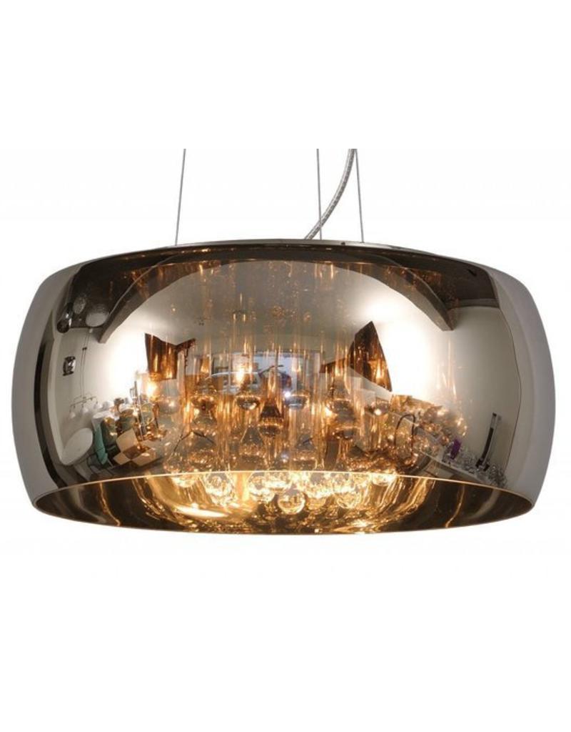 Lamp met kristallen glas 40cm Ø of 50cm Ø