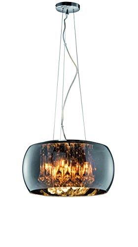 lustre pampilles moderne verre 40cm or 50cm myplanetled. Black Bedroom Furniture Sets. Home Design Ideas