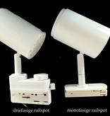 Railverlichting wit of zwart dimbaar LED 12W