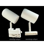 Track lighting dimmable white or black LED 12W