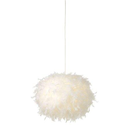 Lustre plume pas cher 50cm ∅ blanc