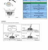 Dimmable LED downlight 7W driverless 7W IP44