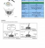 Inbouwspot LED dimbaar 7W zonder trafo IP44
