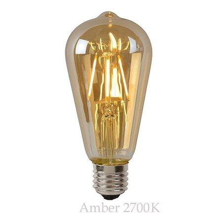 LED kooldraadlamp lang dimbaar 5W amber of transparant