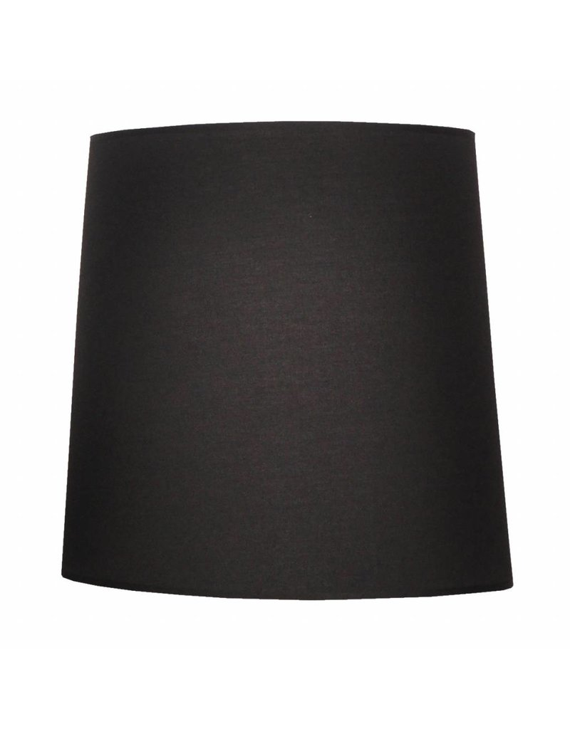 Lamp shade fabric black round 405mm wide for ARM-271-307