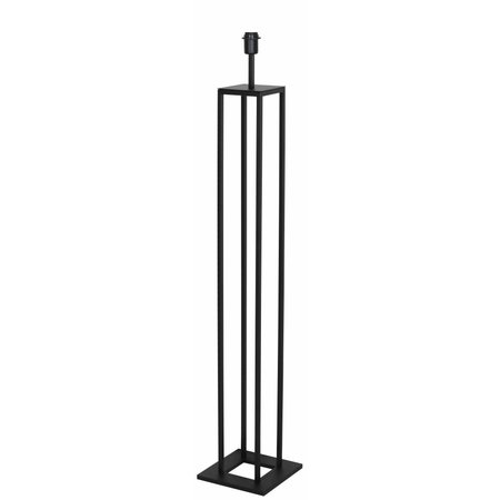 Rustic modern floor lamp black E27