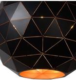 Pendant light geometric light shade black-gold, white