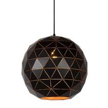 Geometrische hanglamp zwart-goud of wit