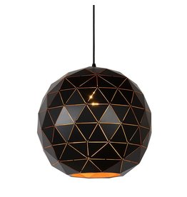 Pendant light geometric light shade black-gold, white