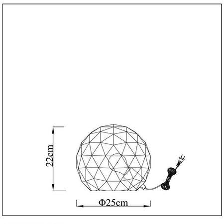 Geometric table lamp black or white 25 cm Ø