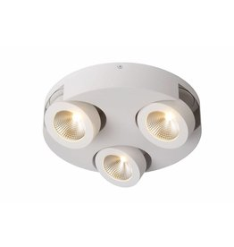 3 spots lamp LED rond wit of zwart 3x5W