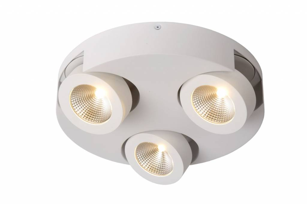 3 spots lamp LED rond wit of zwart 3x5W | Myplanetled