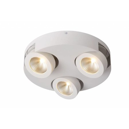 3 way spotlight LED round white or black 3x5W
