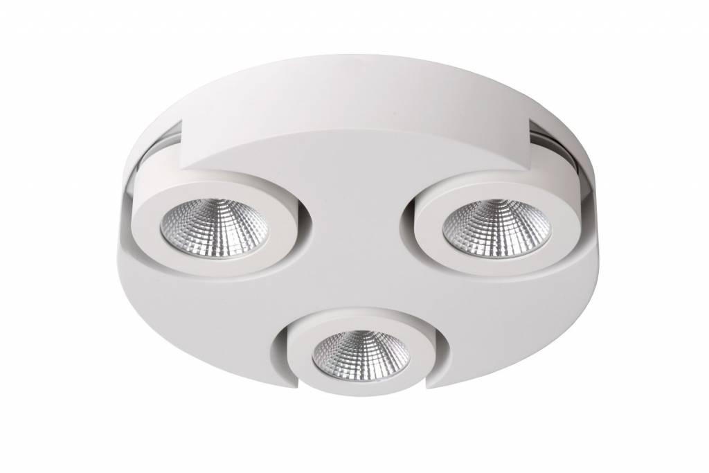 3 way spotlight LED round white or black 3x5W