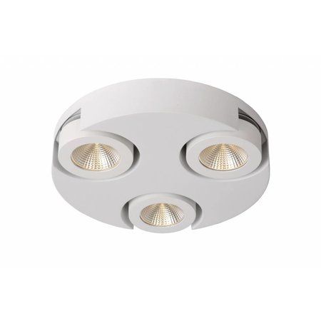 3 way spotlight LED round white 3x5W
