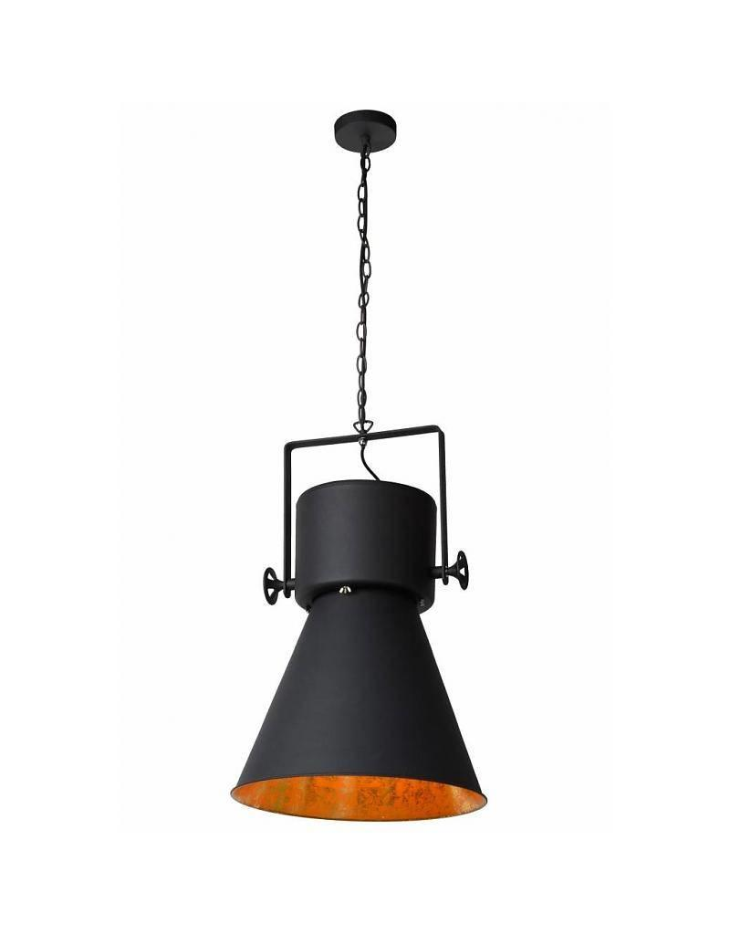 Black and gold light industrial style E27
