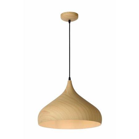 Pendant light design wood colour 42cm diameter E27