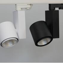 Lumière sur rail triphasé 20W LED Ra>90
