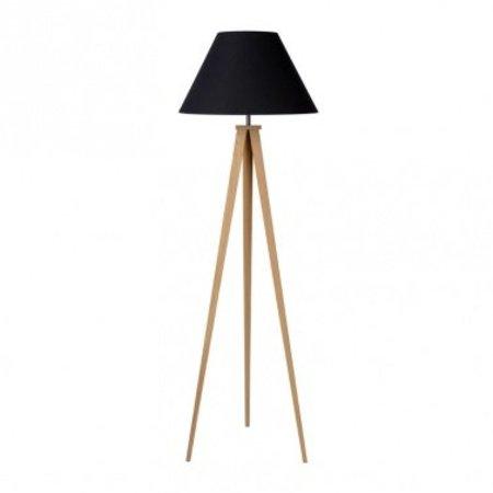 Driepoot staande lamp lampenkap zwart, grijs
