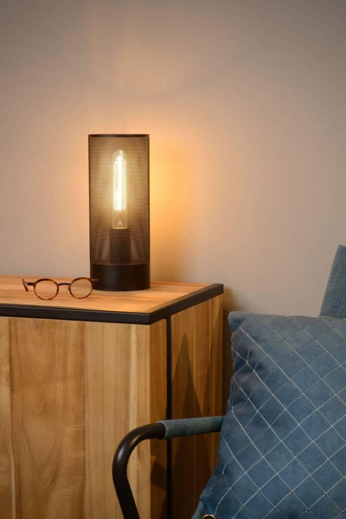 lampe de chevet m tal cage noir laiton chrome e27 myplanetled. Black Bedroom Furniture Sets. Home Design Ideas