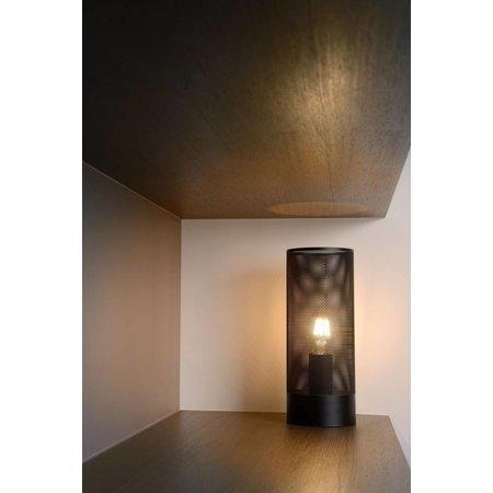 Lampe de chevet métal cage noir, laiton, chrome E27