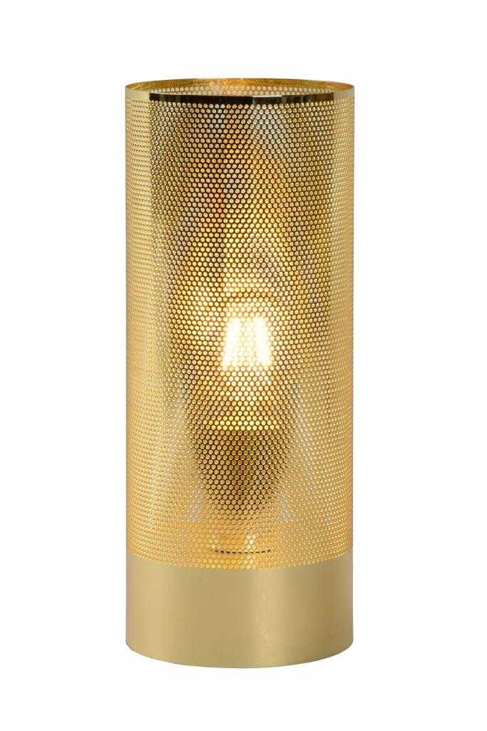 Metal table lamp cage black, brass or chrome E27