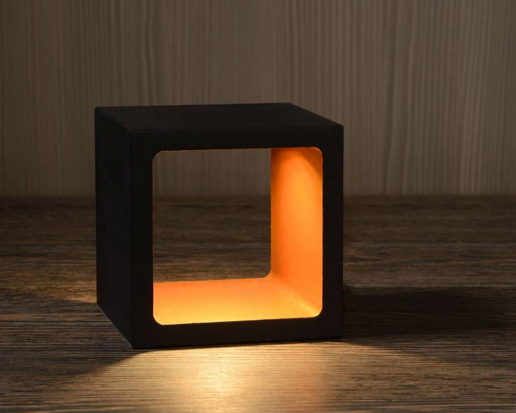 Lampe de chevet moderne variateur blanc noir dor led 6w for Lampe de chevet moderne