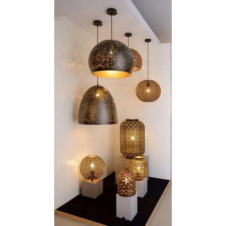 Moroccan style pendant light black gold 38,5cm Ø E27