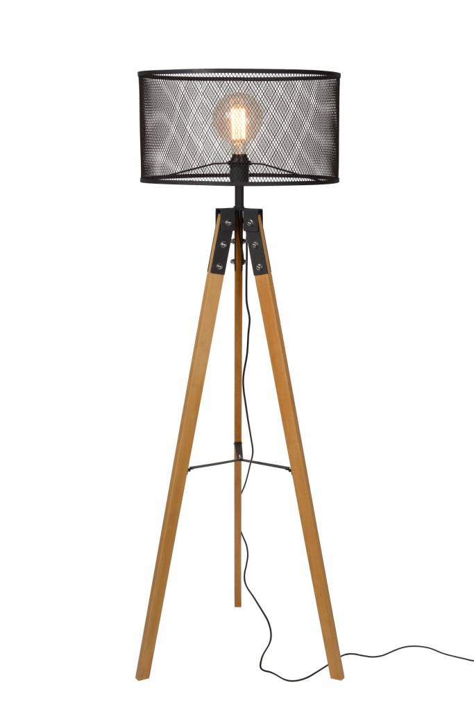 Vintage Tripod Floor Lamp Cage Metal E27