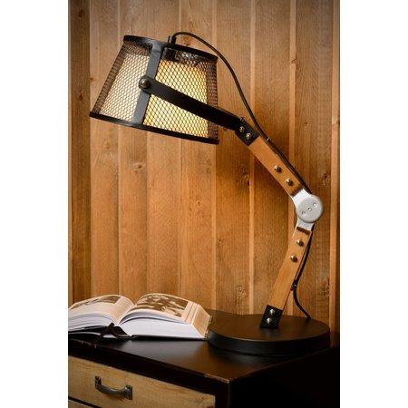 lampe de table vintage bras bois e27 myplanetled. Black Bedroom Furniture Sets. Home Design Ideas