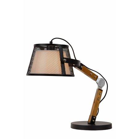 Table lamp wood arm vintage E27