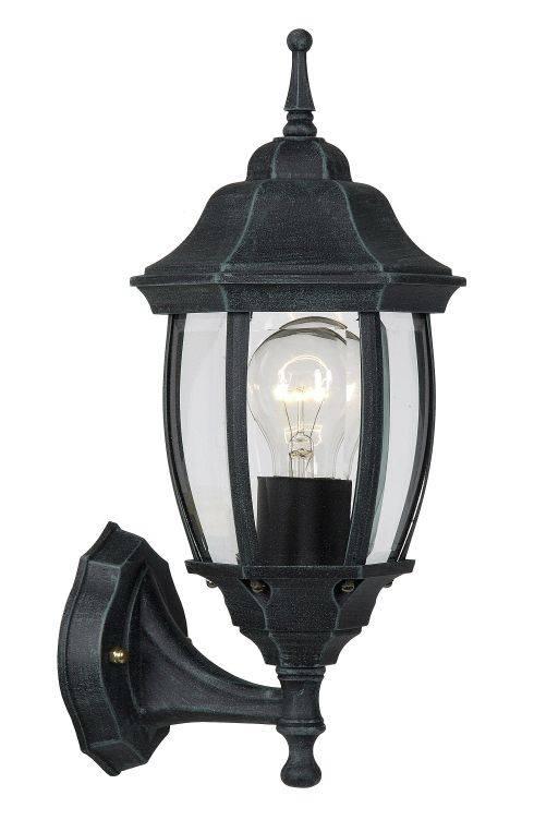 Victorian wall light black, white or antique green E27