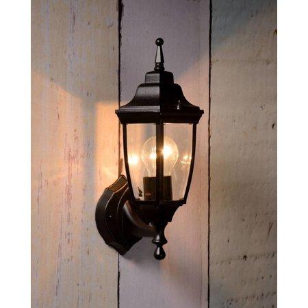 Applique lanterne noir, blanc ou vert antique E27