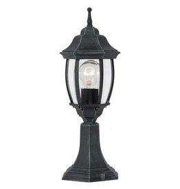 Victoriaanse lamp sokkel zwart, wit, antiek groen E27