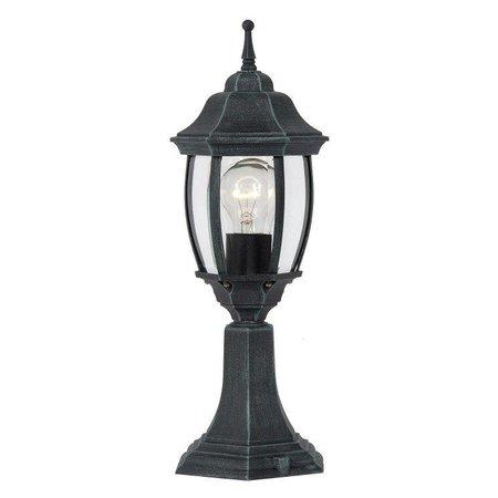 Victorian pedestal lamp black, white, antique green E27