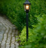 Garden lantern black, white, antique green 1,2m H, E27