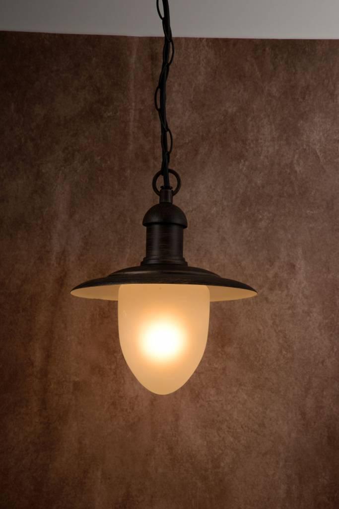luminaire ext rieur suspendu verre noir rouill e27 myplanetled. Black Bedroom Furniture Sets. Home Design Ideas