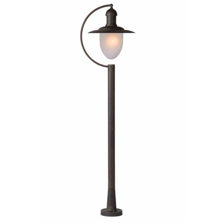 Exterior floor light glass, black, rusty, 1,1m H