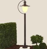 Lampe sur pied extérieure verre, noir, rouillé, 1,1m H