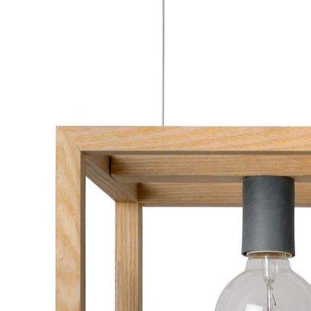Rectangular pendant light copper, black, white, grey, wood