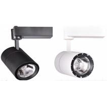 Spot LED sur rail 40W blanc ou noir